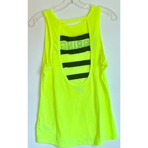 VSX tank top bright neon, strappy open back